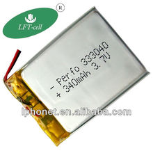 340mah 3.7V li-polymer battery 333040 for digital camera