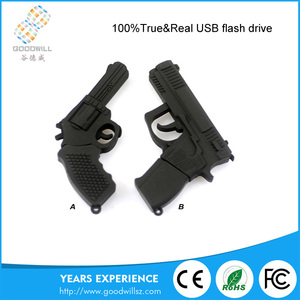 China Soft Cartoon Drive Pendrive Gun Usb Stick