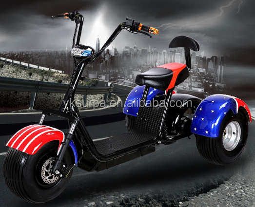 1000w/800w 60v citycoco front back suspension big wheel 3 wheel electric scooter/cargo e bike/mobility motorcycle