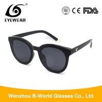 Sell well branded eyewear flat lens frames sunglasses for women