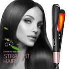 Newest Design Hair Straightener with Teeth Flat Iron Straight Curly Hair 2 in 1 Professional Titanium Ceramic Hair Brush Comb