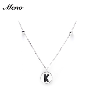 Fashion Jewelry Kewelry Mother Daughter Personalised Statement Custom Coin Letter 925 Sterling Silver Pendant Necklace