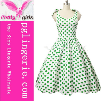 New Style Women Rockabilly Polka Dot Dress Retro Vintage 50s Party Dresses