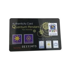 2500cc to 10000cc negative ion quantum nano energy card