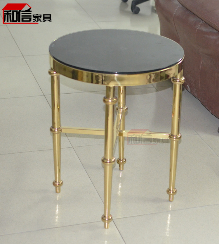 Small Golden Stainless Steel Frame Tempered Glass Corner A