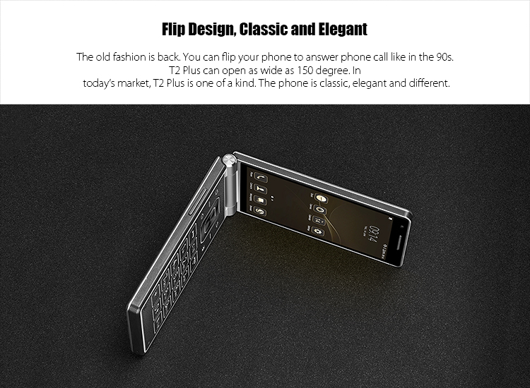 Original VKWORLD T2 PLUS 4.2 inch flip phone 3+32G dual screen 4g smartphone dual sim unlock cell mobile phone