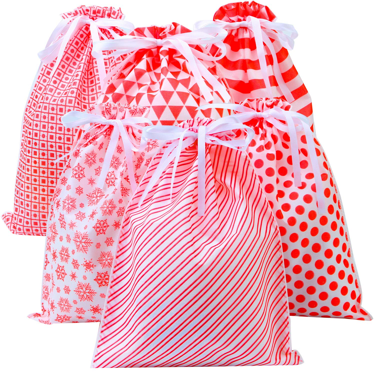 Party Favors Bags or Christmas Party Celebrations Non-Woven gift Drawstring Bag