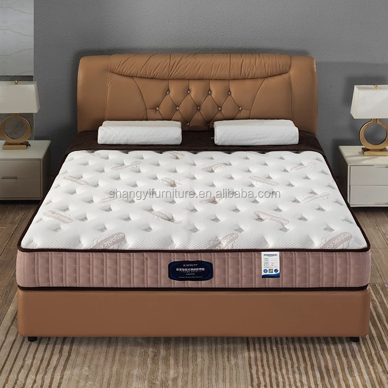 Latest New Design Pu Leather Soft Storage Double Bed Designs With