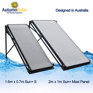 durability flat solar panel heat swimming pool water install on any roof