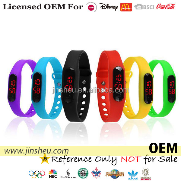 Wholesale Promotional Cheap Digital Sports LED Kids Silicone Watch