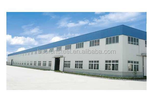 prefabricated steel structural frame workshop with mezzanine
