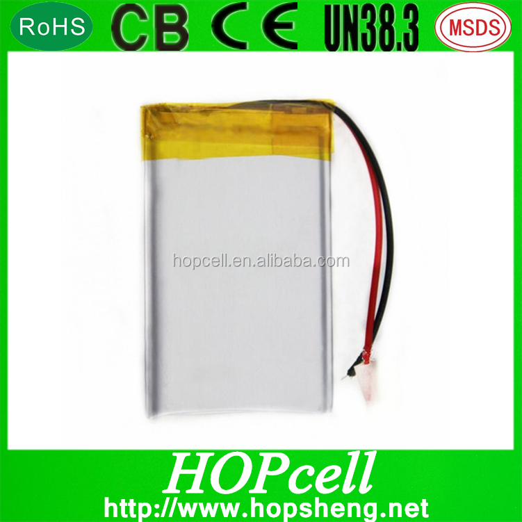 No pollution clean energy lipo battery 3.7v 120mah battery