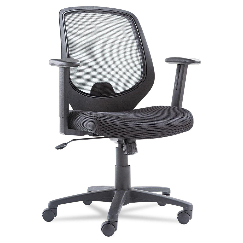OIF Mid-Back Swivel/Tilt Mesh Chair, Mesh Back/Seat, Black