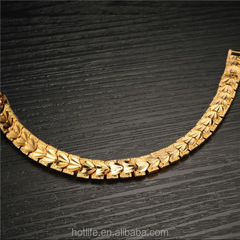 Guangzhou Men Jewelry Factory 18k Yellow Gold Plated Saudi Gold