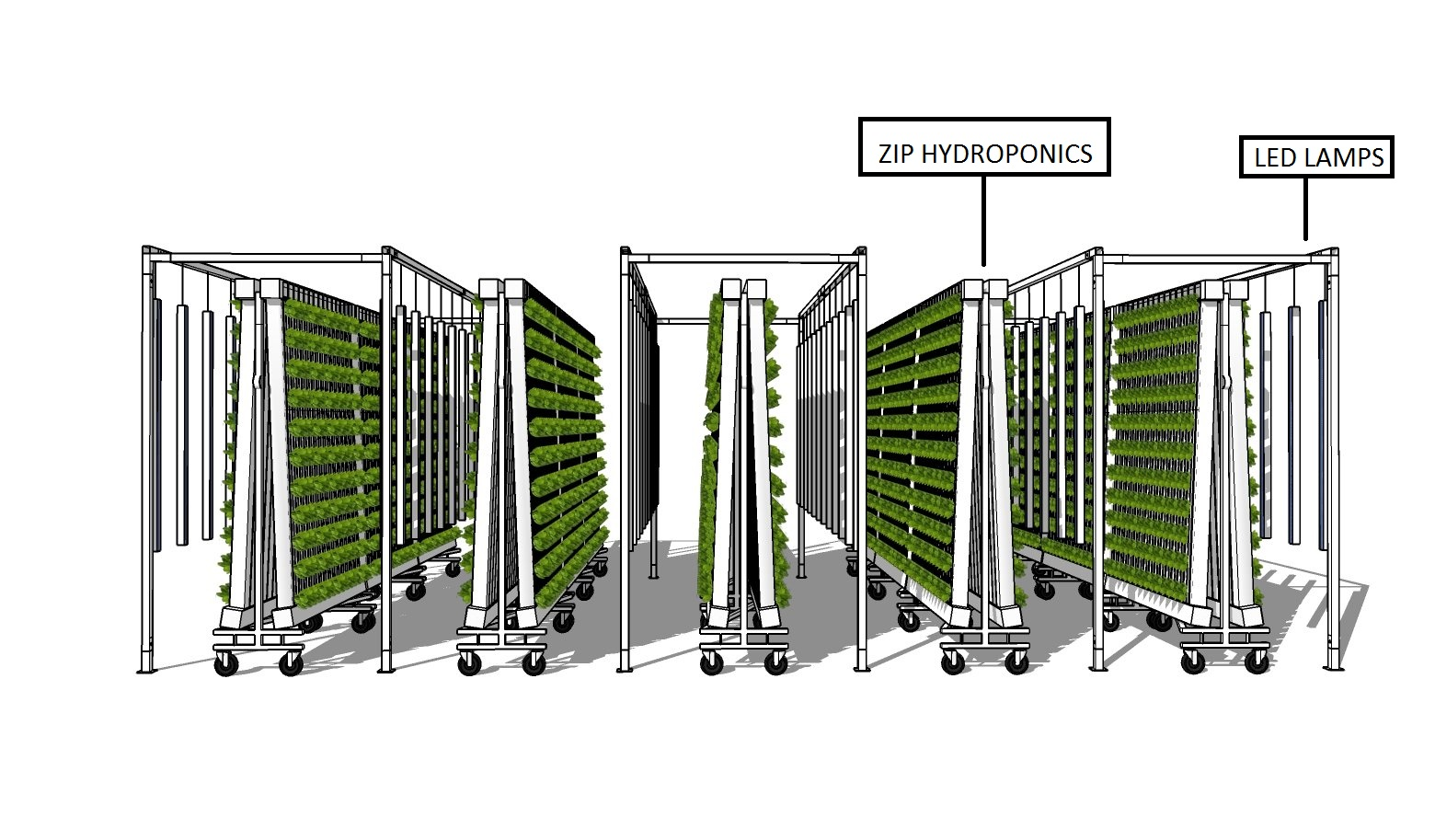 Zip vertical tower grow channel for dwc hydroponic system