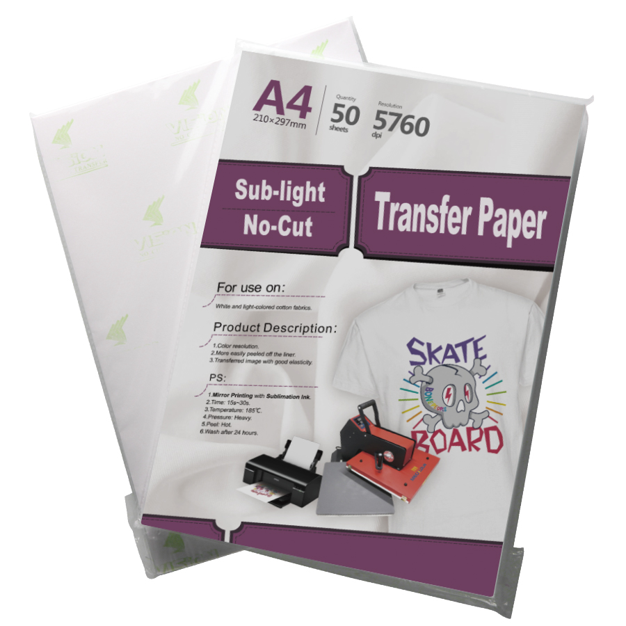 Sub-light No Cut Transfer Paper For Light Cotton Fabric With Sublimation  Ink - Buy Transfer Paper,No Cut Transfer Paper,Subli-cotton Product on