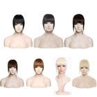 100% Human hair extension neat women hair pieces Clip in bang with different colors