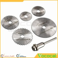 6 Pcs Mini High-Speed Steel HSS Circular Saw Web Blade Bit Cutting Discs Cutoff and Extension Rod for Rotary Tool Set