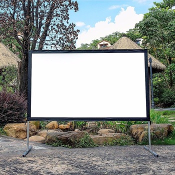 Mobile Outdoor Fast Fold Projection Screen Rear 3D Home Cinema