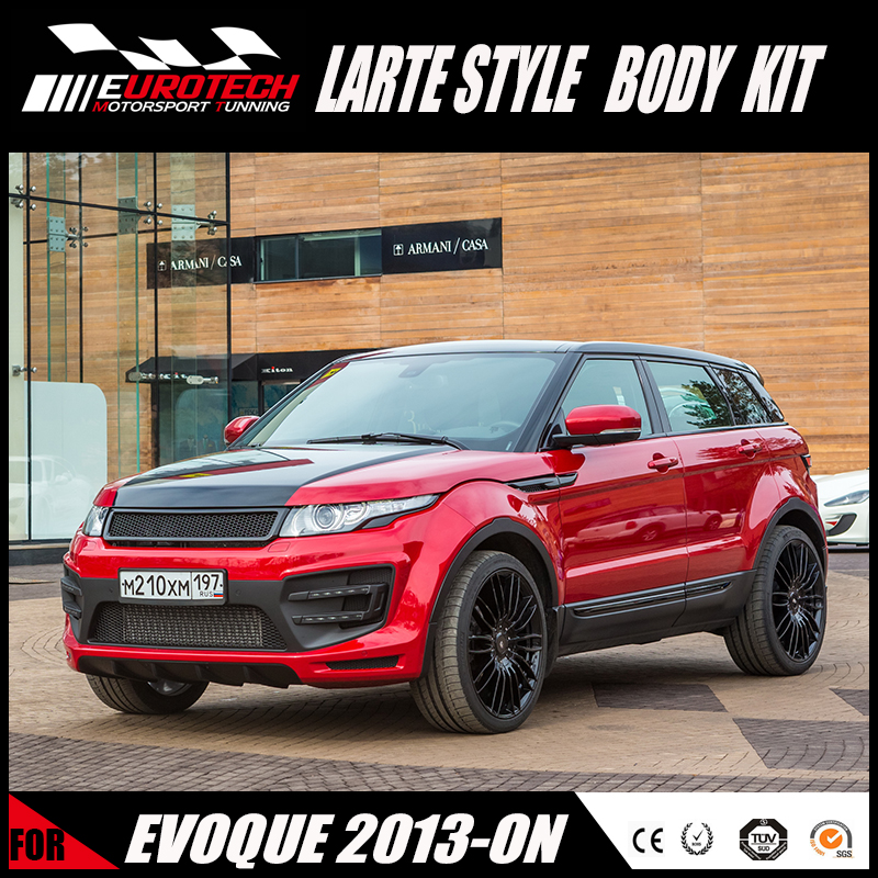 New styling LARTE style bumper PP material for land -rover evoque 2013-2017 upgrade body kit
