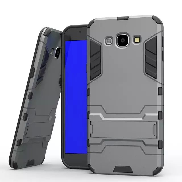 Iron-Bear Stand Rugged Hybrid Armor Fancy Cell Phone Cases For Samsung Galaxy A8