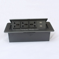 Factory Hot Sales pop up power socket usb rj45 hdmi audio and video universal desk socket