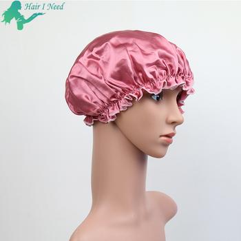 vente discount bonne texture belle qualité Logo Personnalisé Impression En Soie Bonnet De Nuit Satin Bonnets Sommeil  Bouchon De Cheveux Pour Le Soin Des Cheveux - Buy Bonnet De Couchage,Bonnet  ...