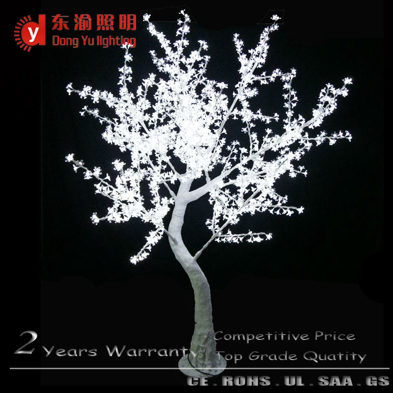 white trunk pure white light cherry blossom flower artificial tree for weddings