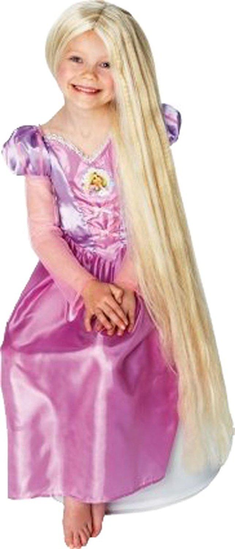 Fancy Party Headwear Tangled Character Rapunzel Glow In Dark Long Fake Hair Wig