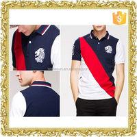 Professional printed modal men's polo shirt yarn dye stripe