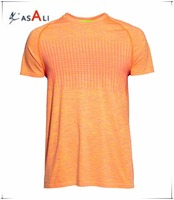30% Polyester 70% Nylon Men's Seamless Running T Shirts Dry Fit Shirts Wholesale