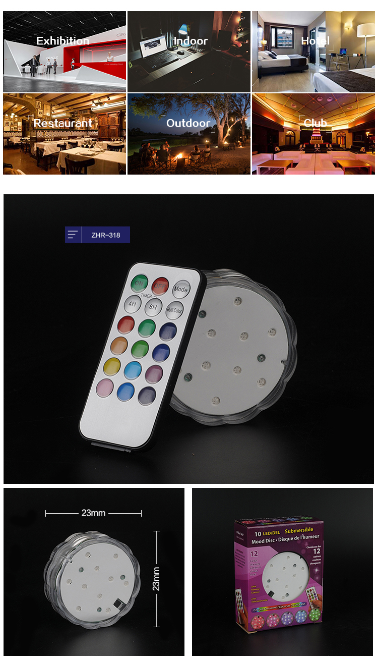 Waterproof Wedding Party Vase Lamp Remote Control votive candles with remote