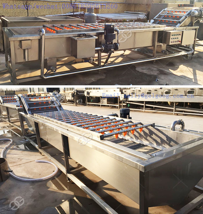 Industrial Automatic Palm Date Potato Cleaner Washer Apple Carrot Drying Production Line Fruit and Vegetable Washing Machine 1