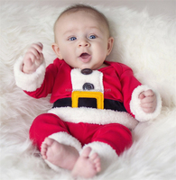 2pcs Santa Claus dress up cute wholesale newborn baby christmas outfits