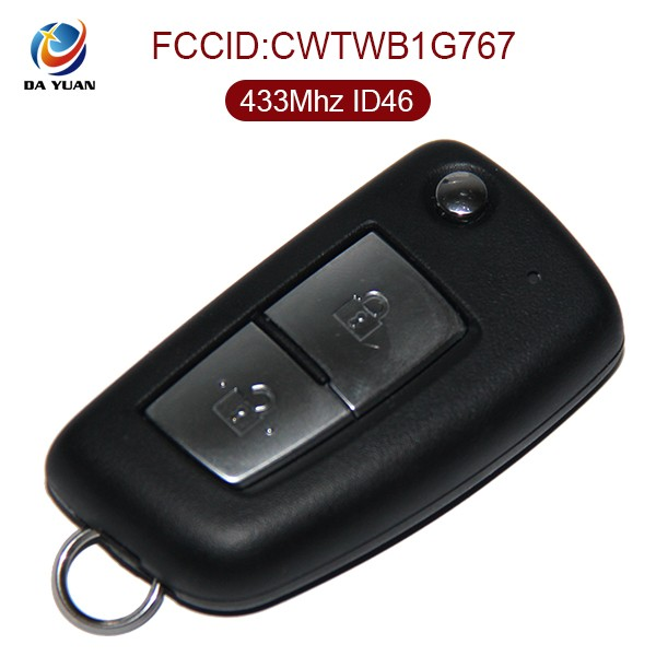 AK027031 car key replacement for Original NISSA 2 Button 433MHZ blank keys for duplicate
