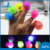 24/56/60pcs per Pack Kids Toy Multi-color Light Ring Strawberry Led Bump Ring