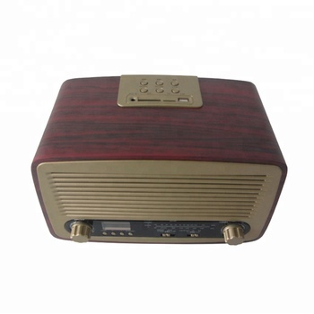 Portable Classic Wooden Retro Radio With Usb Sd Mp3 Player - Buy ...