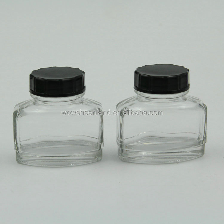 China Wholesale Ink Glass Container Manufacturer 2oz 60ml Empty fountain pen ink bottle