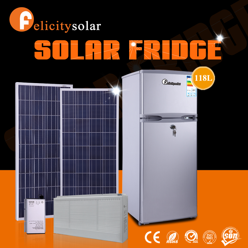 FL-SDG-118L DC Solar refrigerator,DC Solar Fridge Freezer 118L, View Solar  refrigerator, Felicity Solar Product Details from Guangzhou Felicity Solar