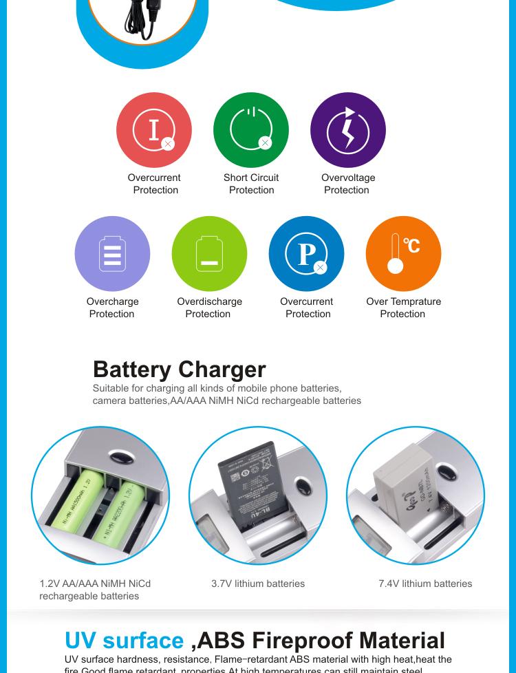 Digital Portable 7 4v Lithium Mobile Battery Charger