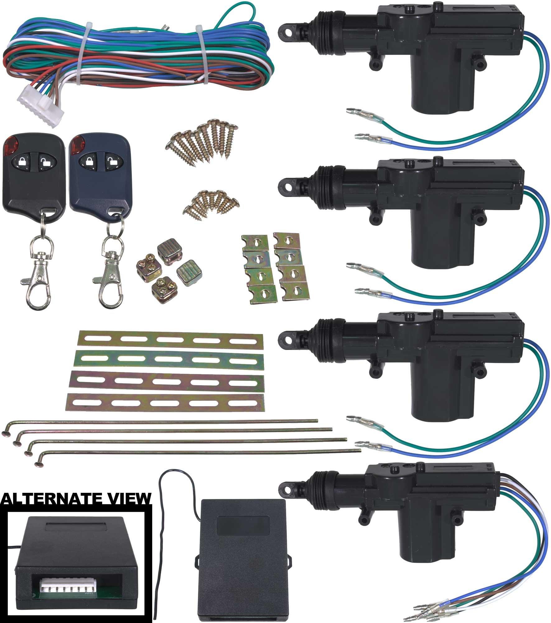APDTY 133785 Universal Keyless Entry Remote Key Fob Door Lock Actuator Kit