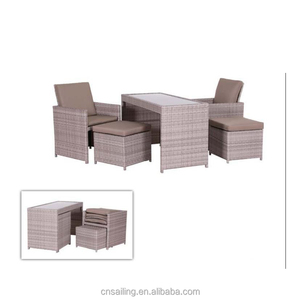 Patio Outdoor Furniture Plastic Rattan Indonesian Jakarta Restaurant Outdoor Commercial Furniture Brazil