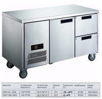 New Design Under Counter Freezer/Commercial Stainless Chest Freezing Fridge/Low Temperature Inside Cabinet & Drawer