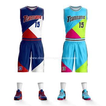 d7d5d7a0cb2 En gros Personnalisé Imprimé Polyester jeunesse réversible conception de  maillot de basket-ball