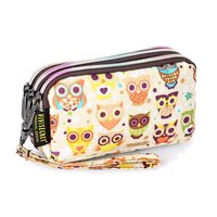 Promotional women makeup bag cartoon cute small travel clutch cosmetic bag