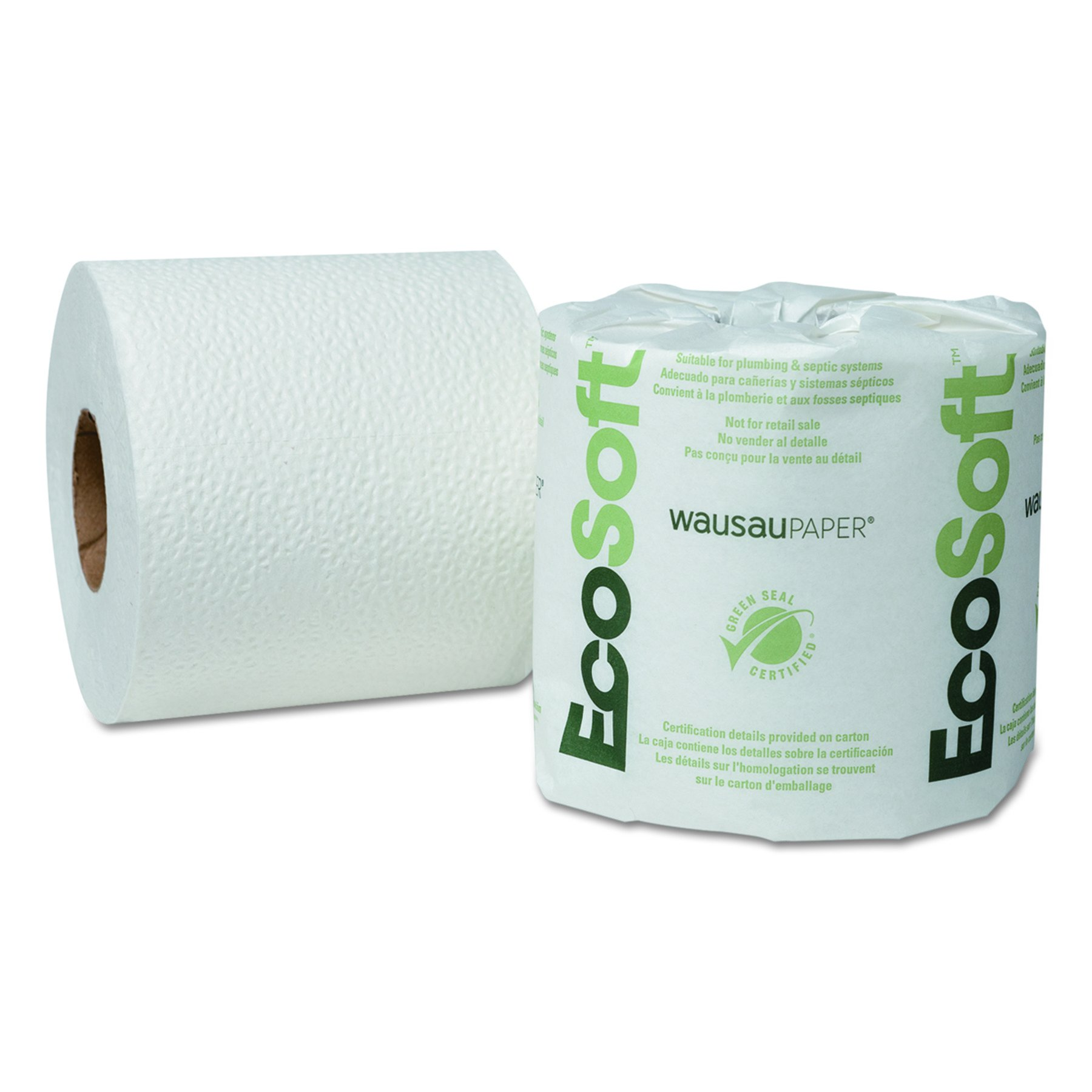 Wausau Paper 54000 EcoSoft Universal Bathroom Tissue, 2-Ply, 500 Sheets per Roll (Case of 96 Rolls)