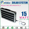 Aluminum polly handy 15W solar panel system for lighting