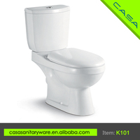 Cost effective two piece OEM white ceramic portable toilets manufacturers