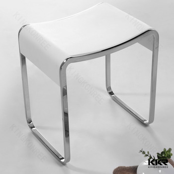 Stone Bathroom Stool,Half Edge Stainless Steel Bathroom Stool ...