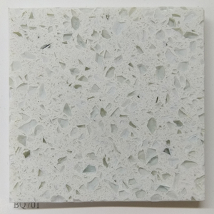 Favorable price top quality sparkle white quartz stacked stone